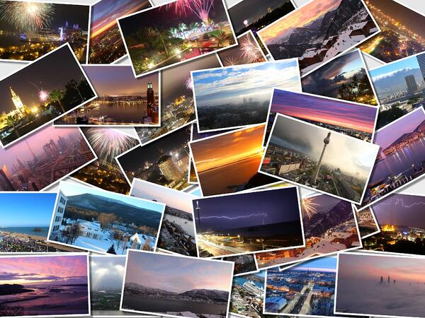 Montage of image thumbnails...