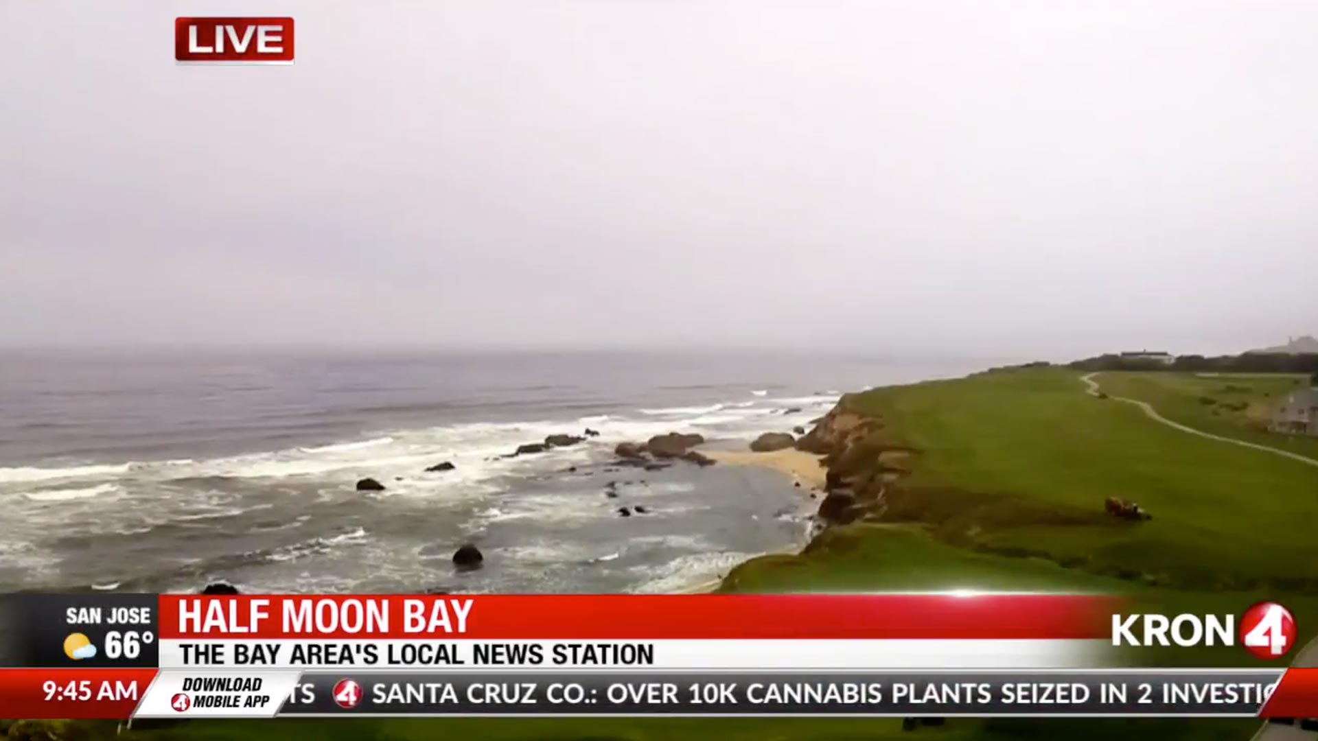 Half Moon Bay, California - Local Weather/TV broadcasting their webcam