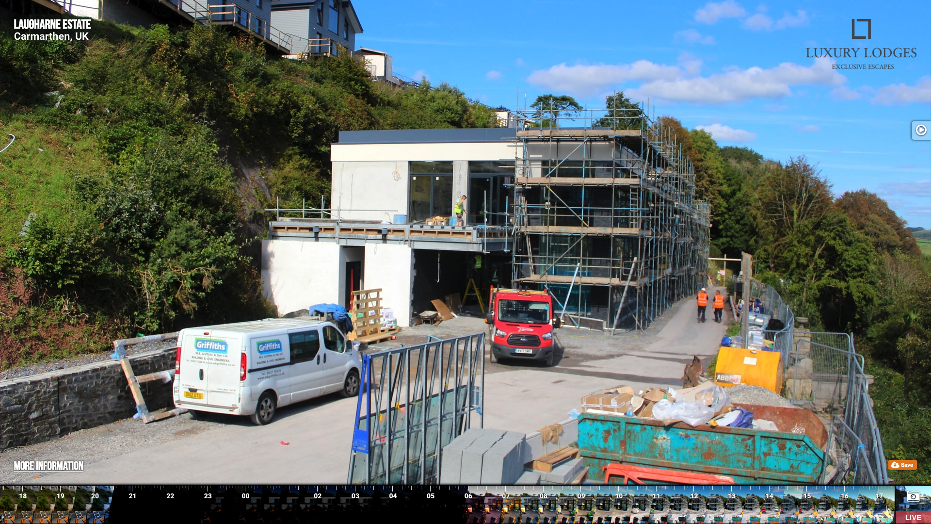Construction site in Laugharne, Carmarthenshire